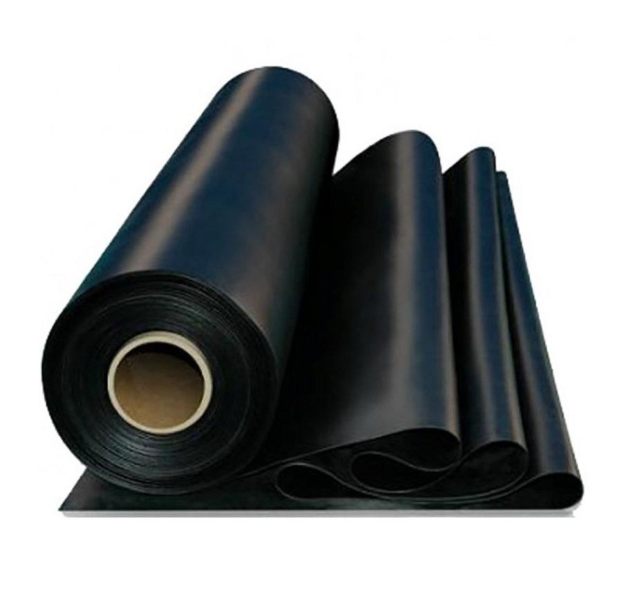 Černá pryžová SBR deska - šířka 100 cm a výška 2 cm