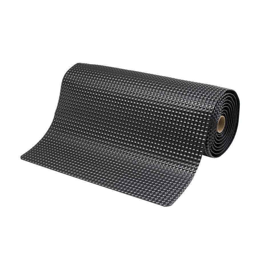 Černá protiúnavová průmyslová laminovaná rohož - výška 1,9 cm
