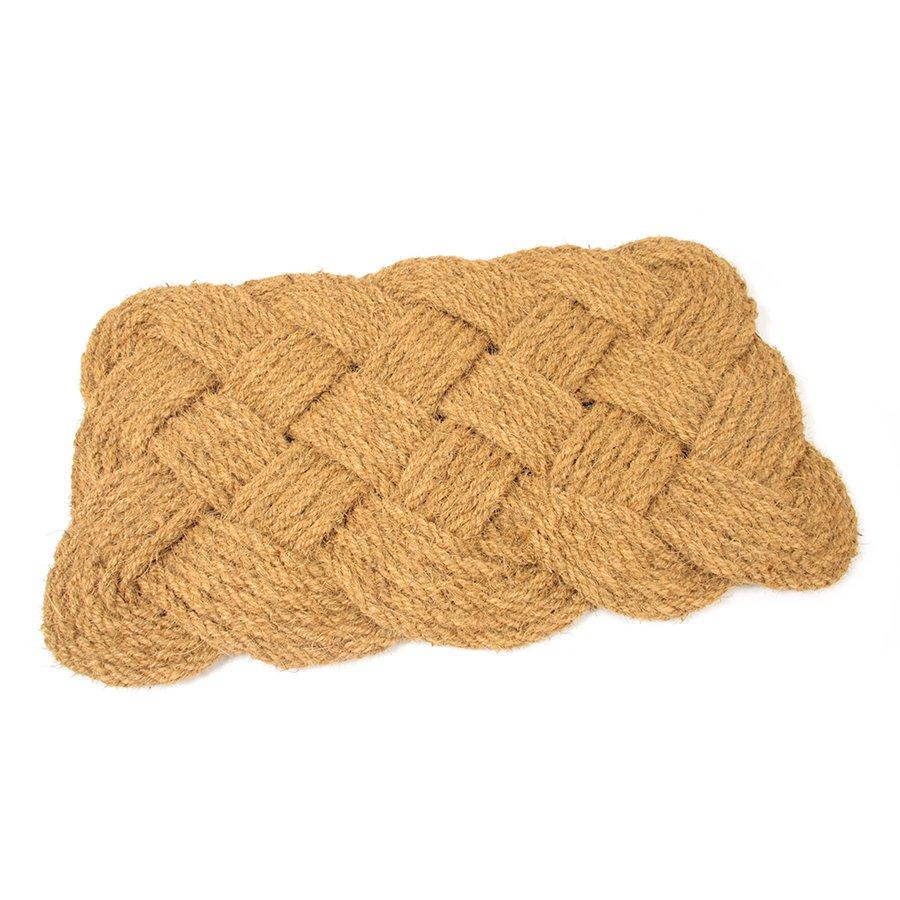Kokosová čistící venkovní vstupní rohož Jumbo Rectangle, FLOMAT - délka 75 cm, šířka 45 c