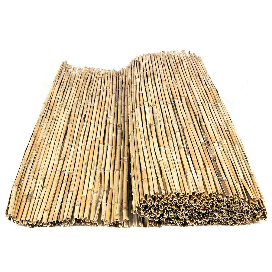 """Rákosová plotová stínící rohož """"štípaný rákos"""" - délka 500 cm"""