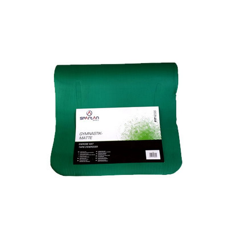 Zelená gymnastická podložka na cvičení - délka 180 cm, šířka 60 cm a výška 0,9 cm