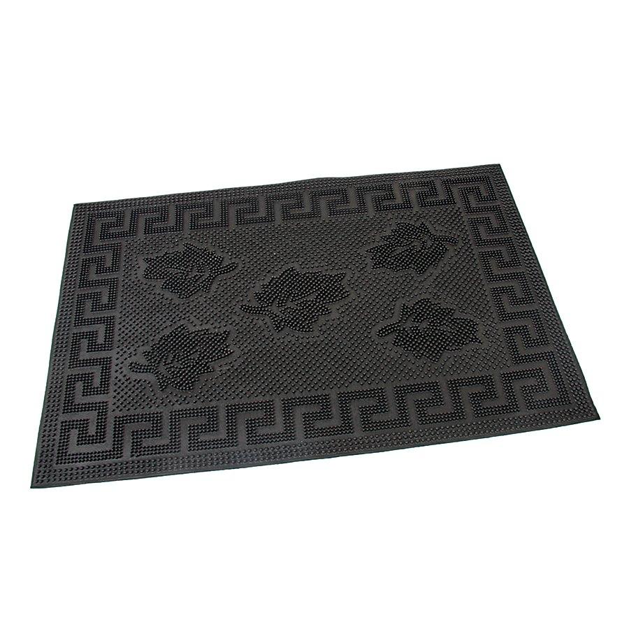 Gumová vstupní kartáčová rohož Leaves - Rectangle - 60 x 40 x 0,6 cm (70080109)
