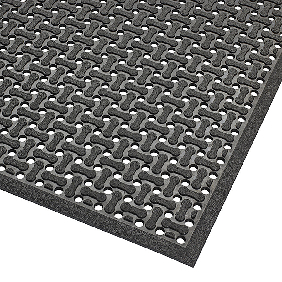 Černá gumová oboustranná protiskluzová rohož Nitrile, Superflow XT - výška 0,85 cm