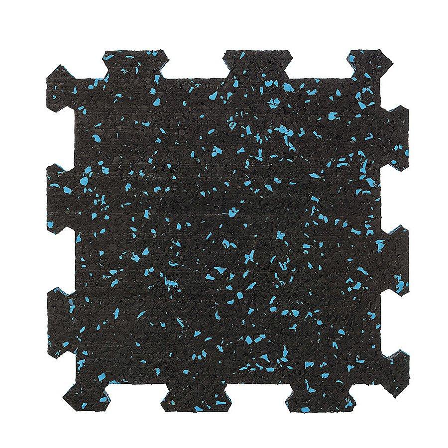 Různobarevná pryžová (10% EPDM STANDARD) modulární deska (střed) SF1100 - délka 95,6 cm, šířka 95,6 cm a výška 2 cm