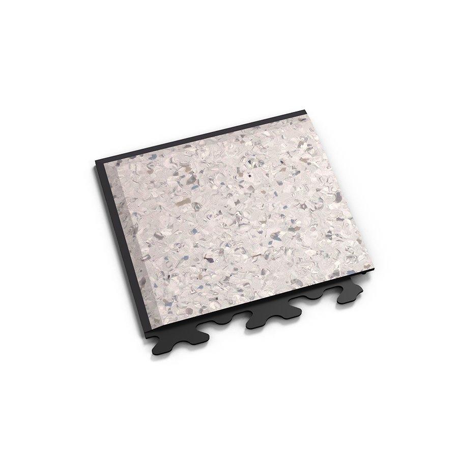 "Šedý plastový vinylový rohový nájezd ""typ A"" Solid Decor 2136, Fortelock - délka 14,5 cm, šířka 14,5 cm a výška 0,65 cm"