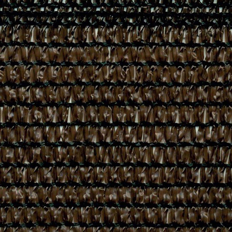 Hnědá stínící tkanina na plot Soleado Corten - délka 50 m