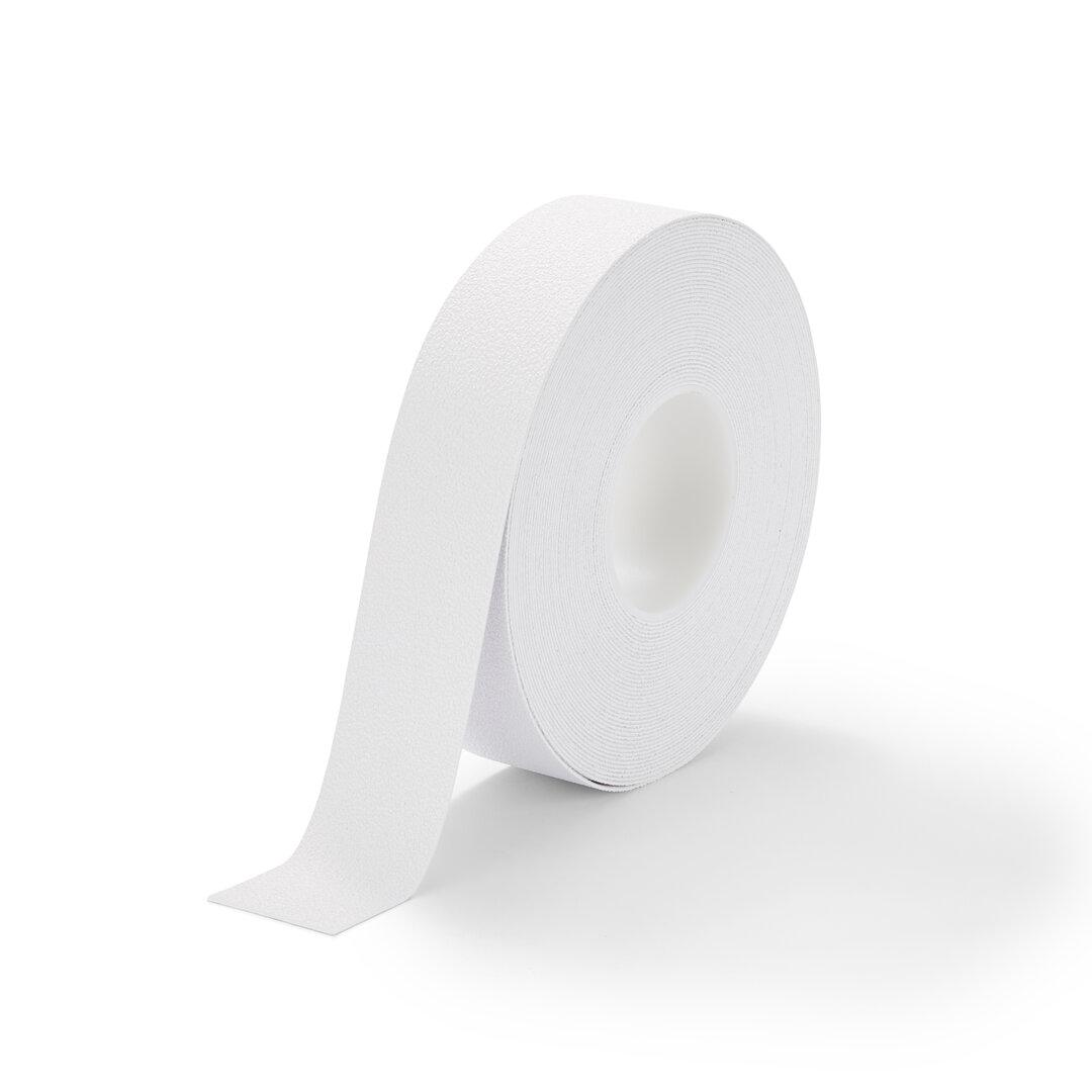 Bílá plastová protiskluzová voděodolná podlahová páska - 18,3 m x 5 cm x 1,3 mm