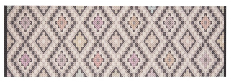 Různobarevný moderní kusový koberec běhoun Cook & Clean - délka 140 cm a šířka 45 cm