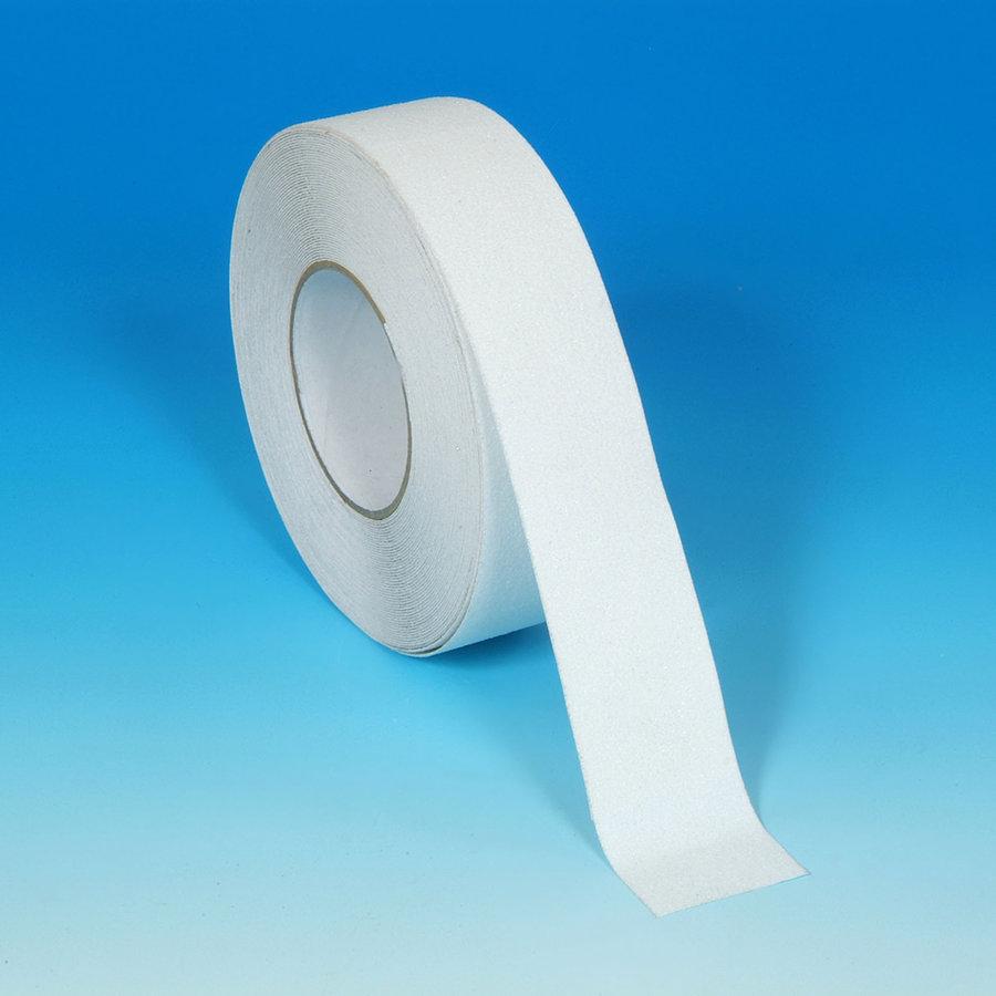 Bílá vinylová protiskluzová páska - délka 18 m a šířka 5 cm