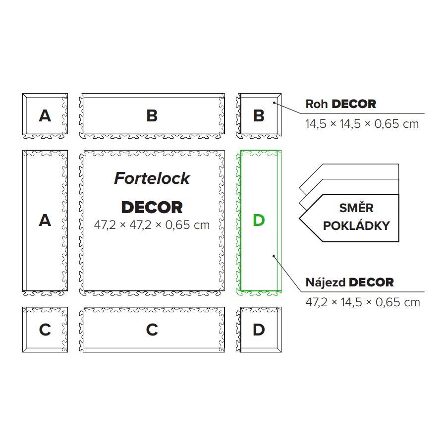 "Hnědý plastový vinylový nájezd ""typ D"" Home Decor 2112, Fortelock - délka 47,2 cm, šířka 14,5 cm a výška 0,65 cm"
