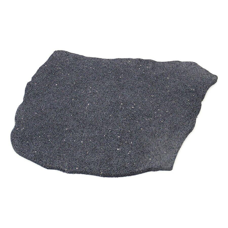 Šedý gumový zahradní nášlap (šlapák) FLOMA Natural Stone - 53 x 45 x 1,5 cm