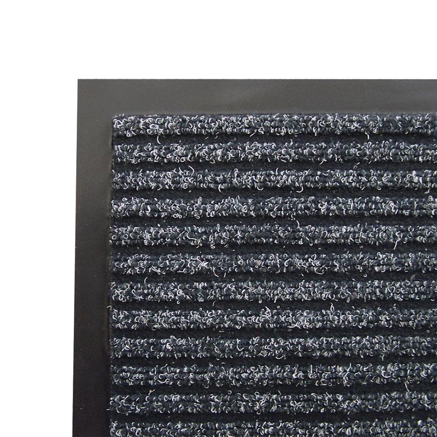 Antracitová textilní čistící vnitřní vstupní rohož - výška 0,8 cm
