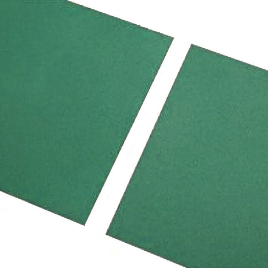 Zelená gumová hladká dlaždice - délka 100 cm, šířka 100 cm a výška 0,7 cm