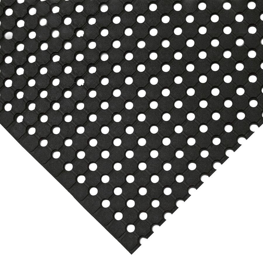 Černá gumová protiskluzová průmyslová rohož - šířka 90 cm a výška 1 cm