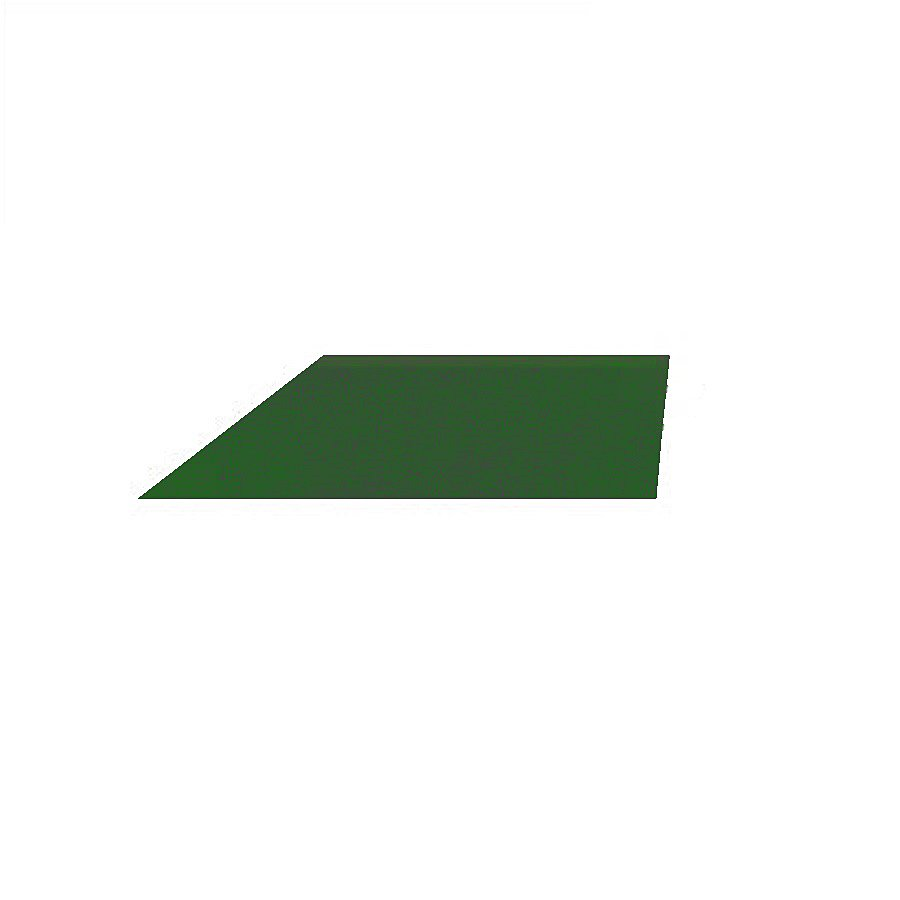 Zelený pravý nájezd (roh) pro gumové dlaždice - délka 75 cm, šířka 30 cm a výška 2,5 cm