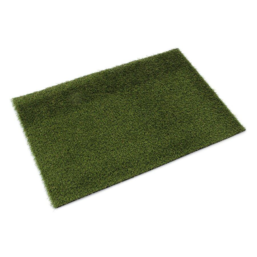 Zelená rohož s umělým trávníkem FLOMA Pesaro - 60 x 40 x 2 cm
