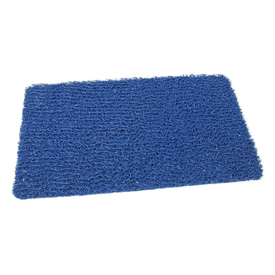 Modrá plastová vinylová protiskluzová sprchová obdélníková rohož Spaghetti, FLOMAT - délka 59,5 cm, šířka 35 cm a výška 1,2 cm