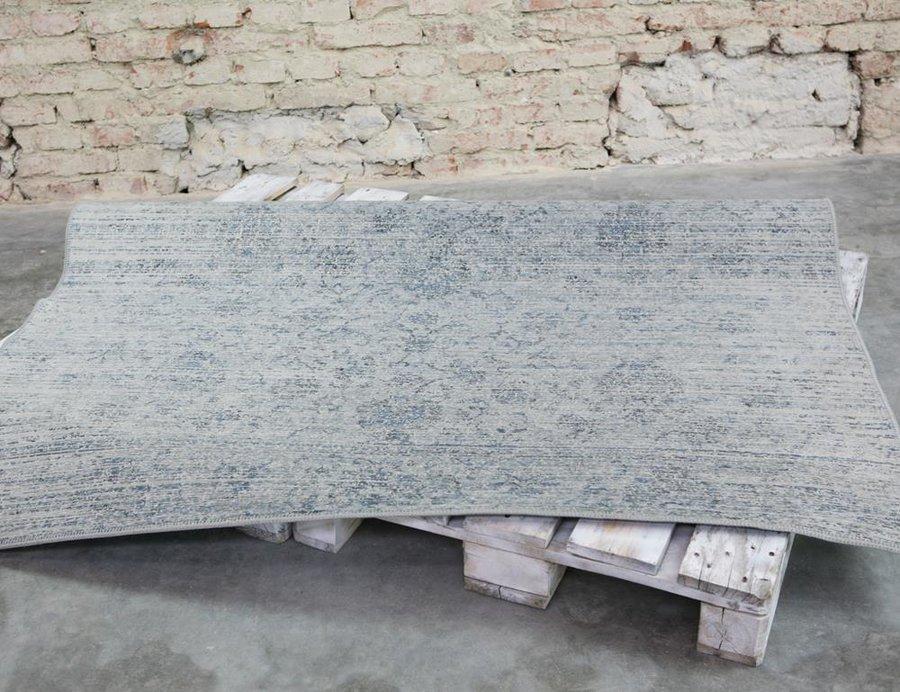 Modro-šedý kusový moderní koberec