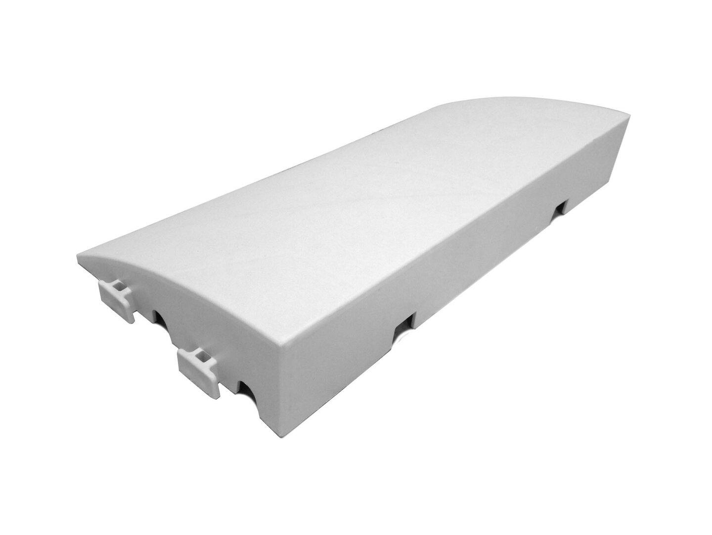 Bílý plastový nájezd pro terasovou dlažbu Linea Premium - 50 x 25 x 8 cm