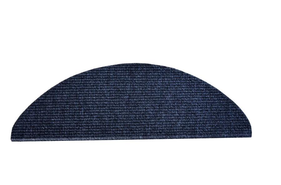 Antracitový kobercový půlkruhový nášlap na schody Quick Step - délka 65 cm a šířka 24 cm