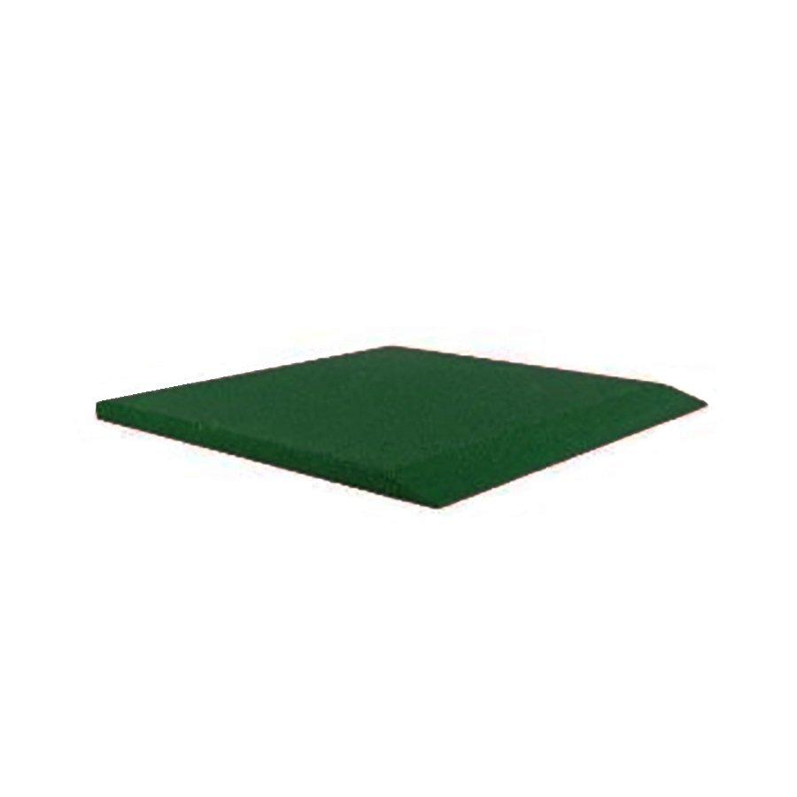 Zelená gumová krajová deska (V40/R00) - délka 50 cm, šířka 50 cm a výška 4 cm