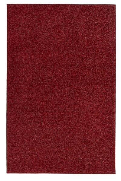 Červený kusový koberec Pure - délka 400 cm a šířka 300 cm