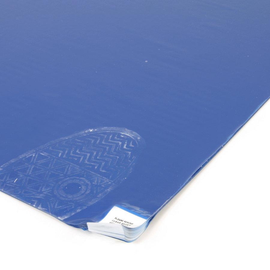 Modrá hygienická dezinfekční lepící rohož - výška 0,2 cm