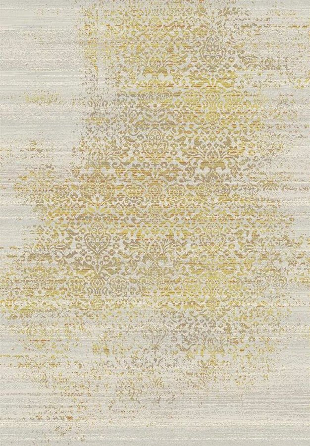 Žlutý kusový moderní koberec Patina - délka 170 cm a šířka 120 cm