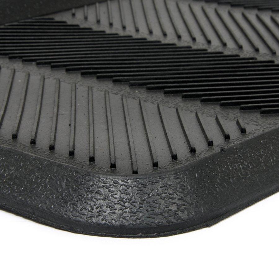 Gumový odkapávač na boty Lines, FLOMA - délka 40 cm, šířka 80 cm a výška 2,5 cm