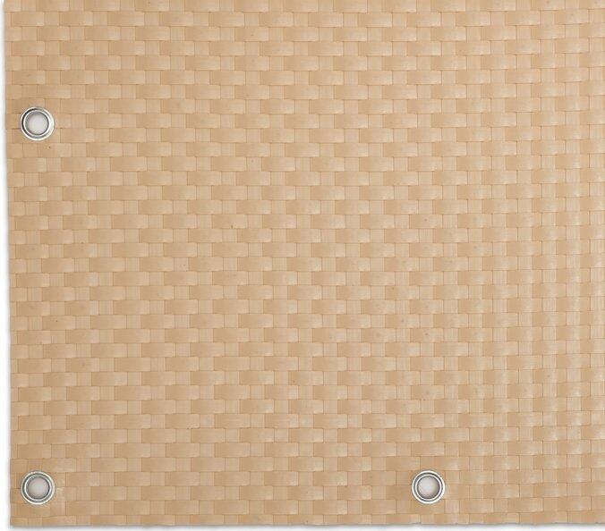 """Béžová plastová ratanová metrážová stínící rohož """"umělý ratan"""" s oky - výška 100 cm"""
