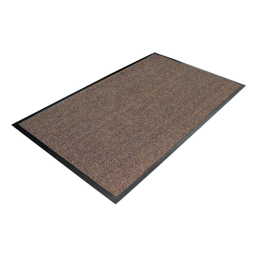 Hnědá textilní metrážová čistící vnitřní vstupní rohož - výška 0,7 cm