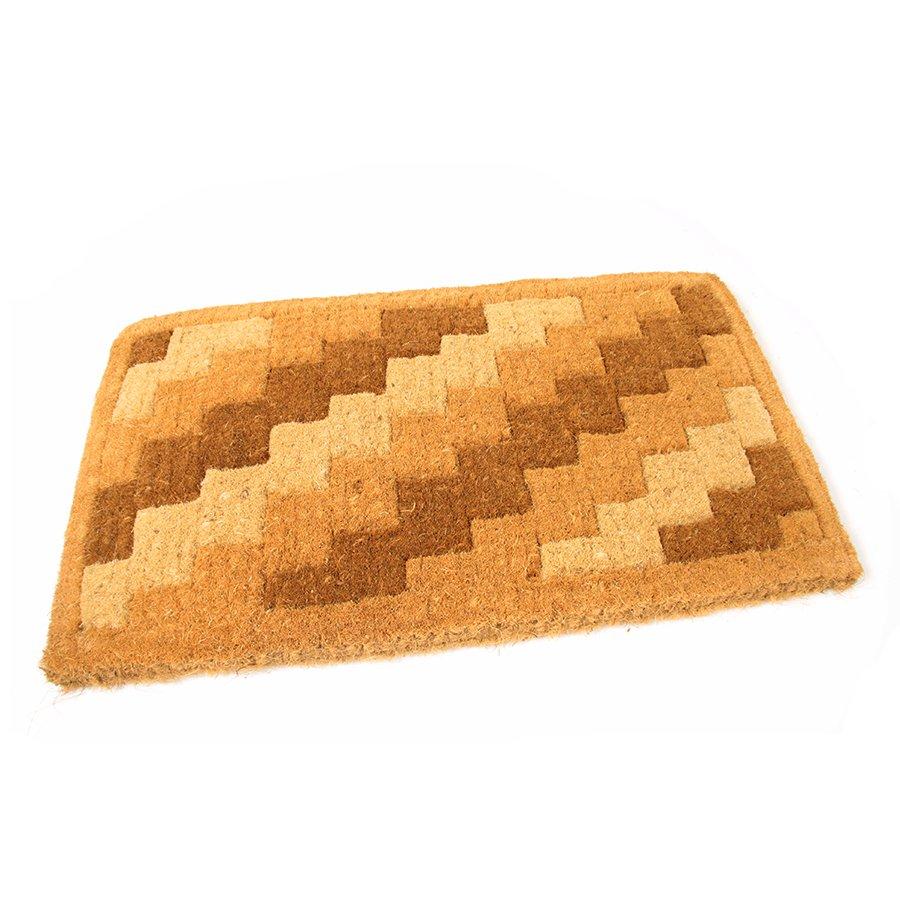 Kokosová čistící venkovní vstupní rohož Stairs, FLOMAT - délka 75 cm, šířka 45 cm a výška 4,7 cm