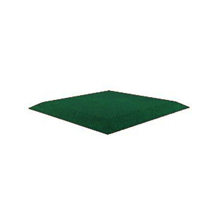 Zelená gumová krajová deska (V30/R00) (roh) - délka 50 cm, šířka 50 cm a výška 3 cm