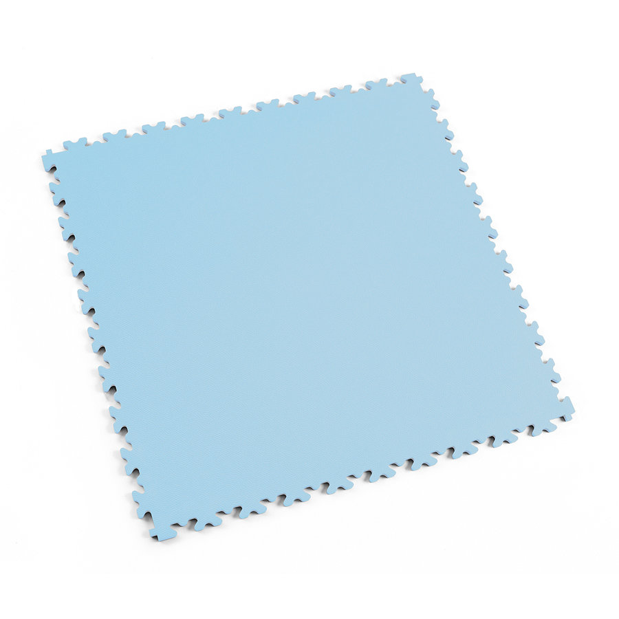 Modrá plastová vinylová zátěžová dlaždice Industry 2020 (kůže), Fortelock - délka 51 cm, šířka 51 cm a výška 0,7 cm