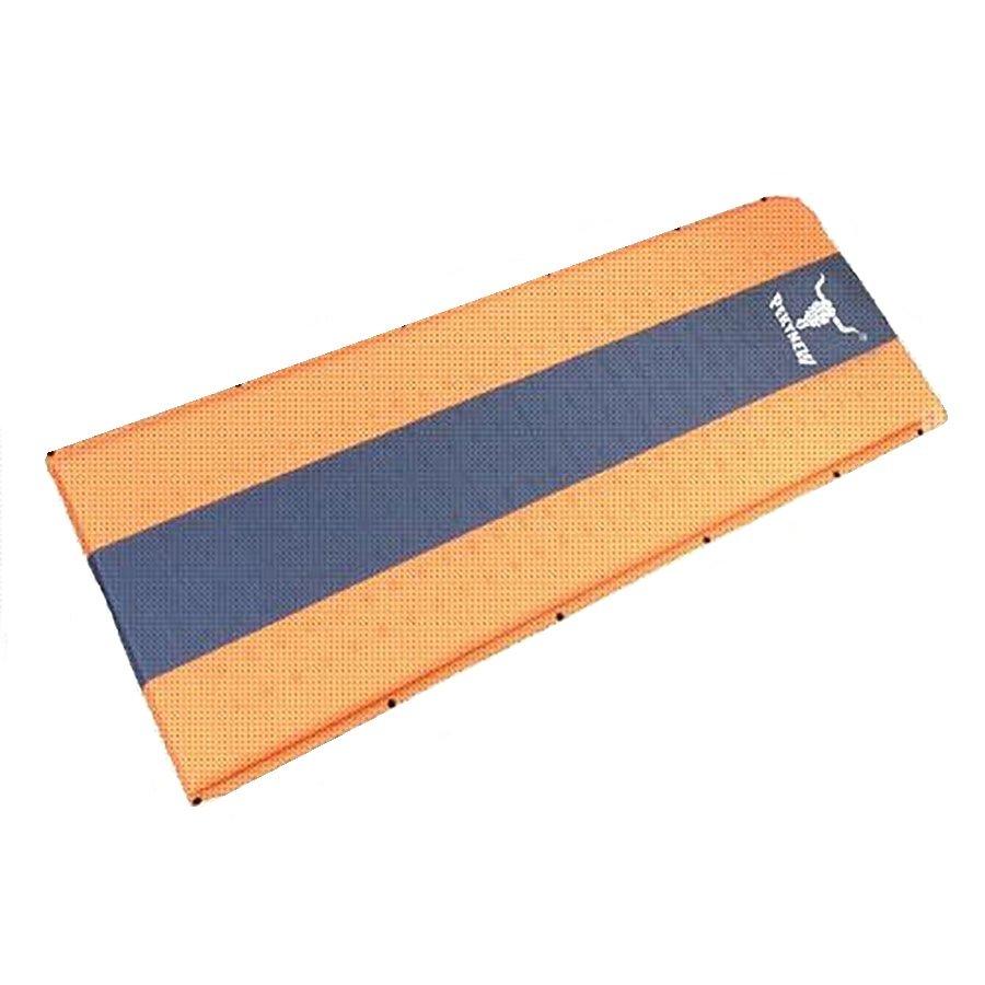 Oranžovo-šedá samonafukovací karimatka - délka 190 cm, šířka 60 cm a výška 2,5 cm