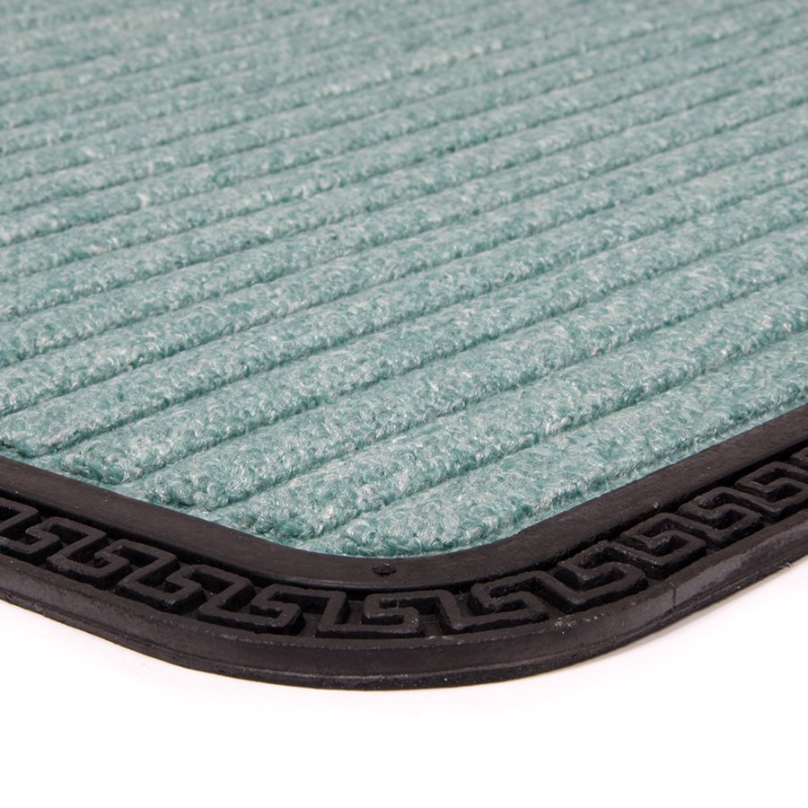 Zelená textilní vstupní venkovní čistící rohož Stripes, FLOMA - délka 45 cm, šířka 75 cm a výška 0,8 cm