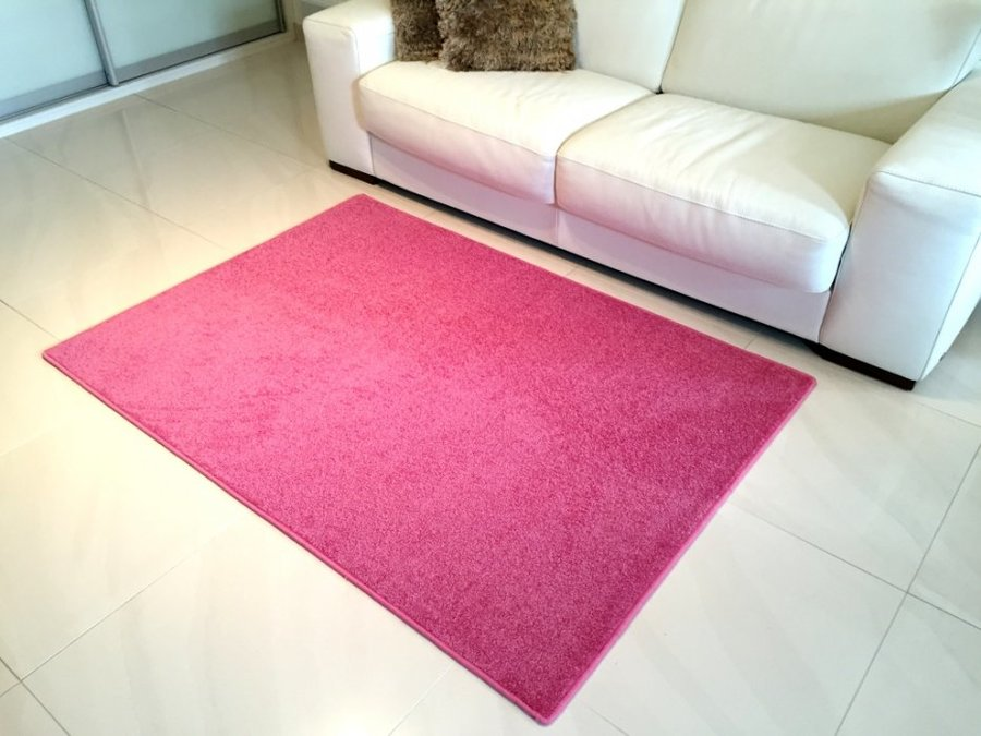 Růžový kusový koberec Eton - délka 80 cm a šířka 50 cm