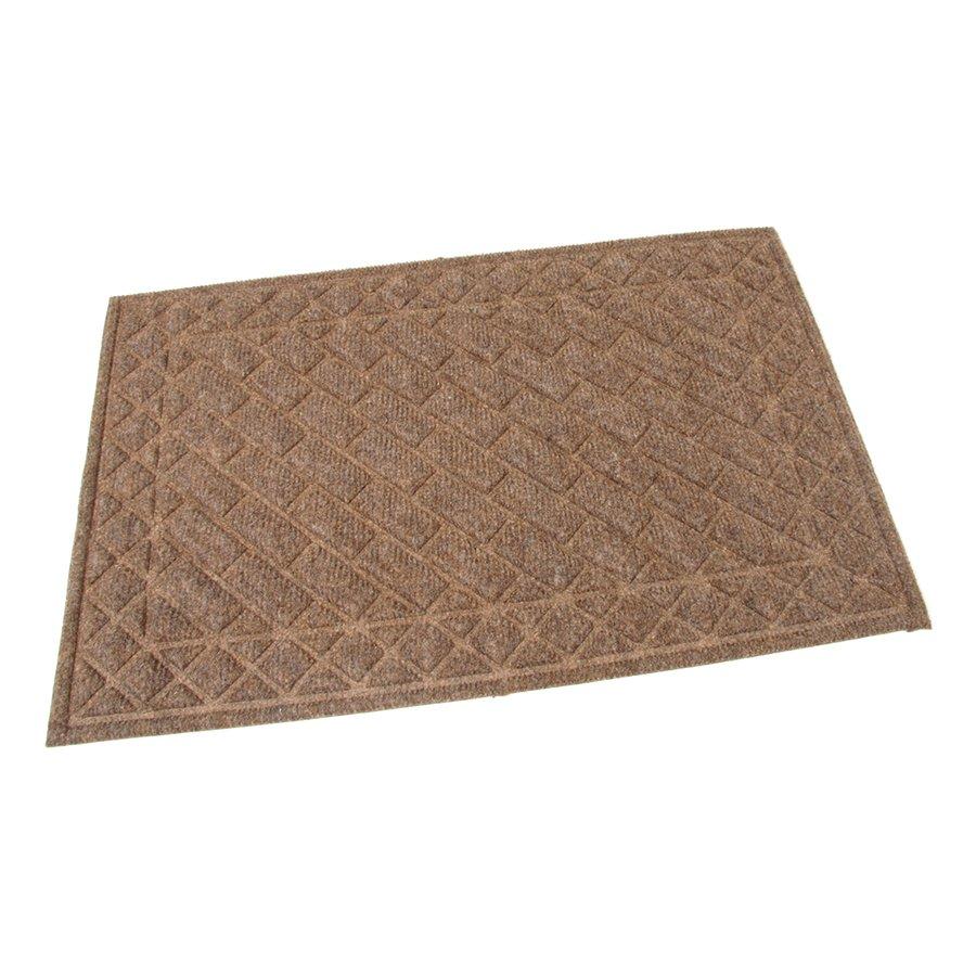 Hnědá textilní čistící venkovní vstupní rohož Bricks - Squares, FLOMAT - délka 60 cm, šířka 40 cm a výška 1 cm
