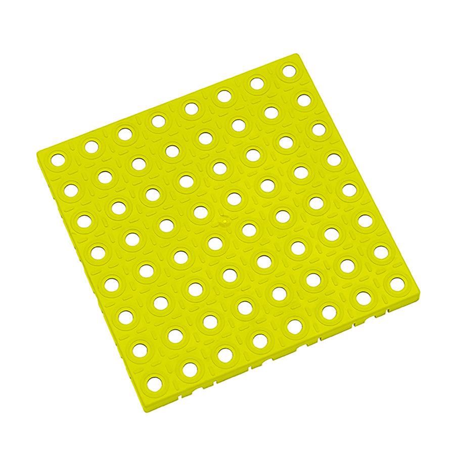 Žlutá plastová modulární dlaždice AT-STD, AvaTile - délka 25 cm, šířka 25 cm a výška 1,6 cm