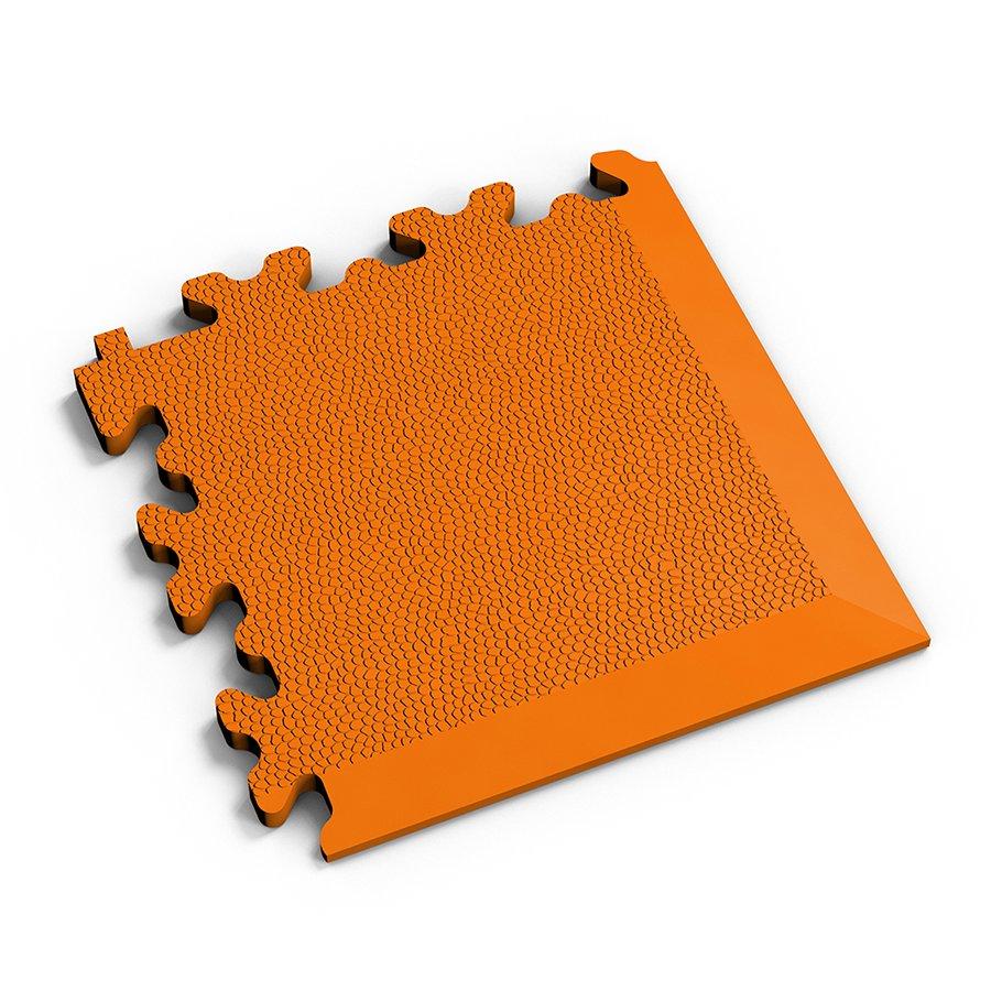 Oranžový plastový vinylový rohový nájezd 2026 (kůže), Fortelock - délka 14 cm, šířka 14 cm a výška 0,7 cm