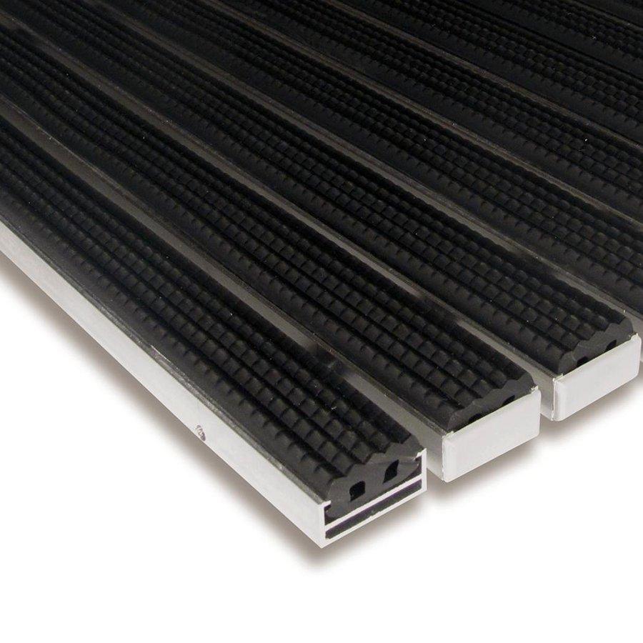 Gumová hliníková čistící venkovní vstupní rohož Alu Standard, FLOMAT - délka 100 cm, šířka 100 cm a výška 1,7 cm