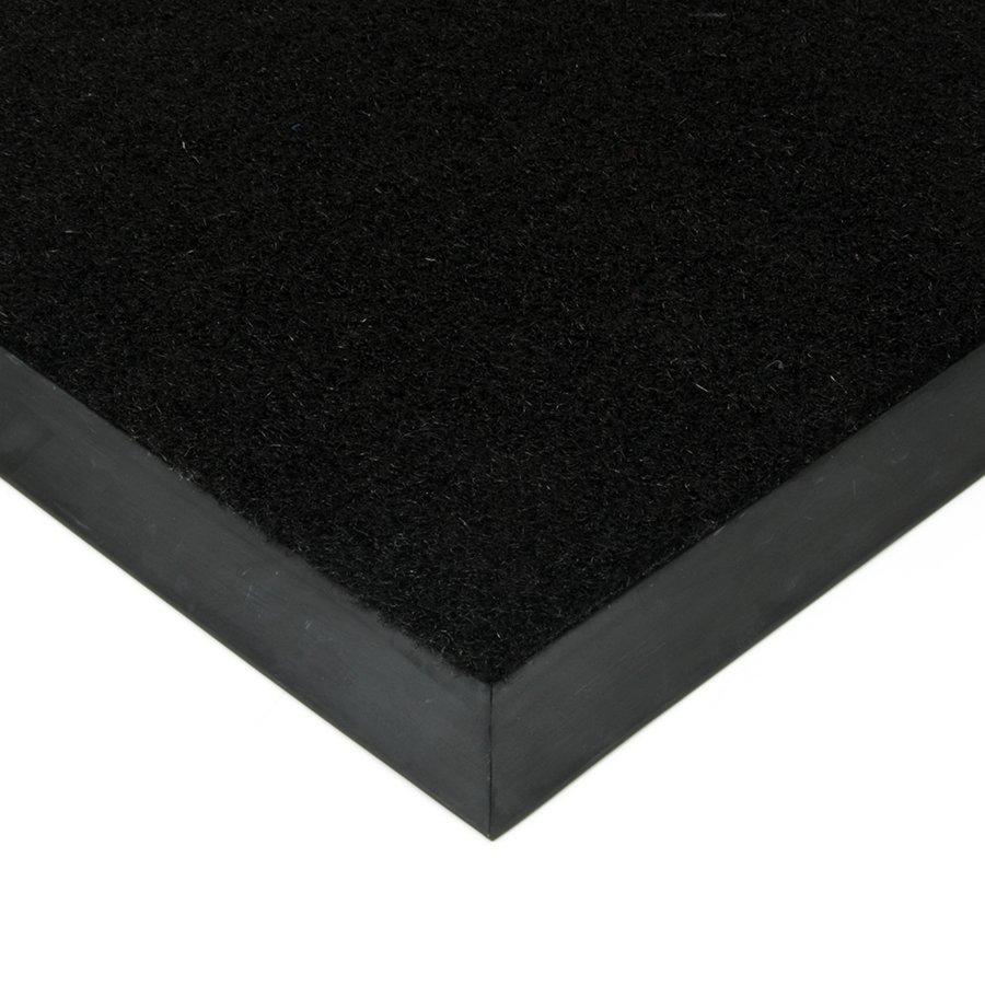 Černá textilní kokosová plastová zátěžová čistící venkovní vnitřní vstupní rohož Synthetic Coco, FLOMAT - délka 200 cm a výška 1 cm