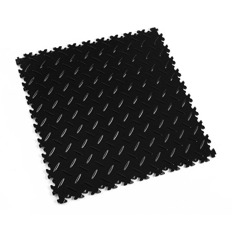 Černá plastová vinylová dlaždice Light 2050 (diamant), Fortelock - délka 51 cm, šířka 51 cm a výška 0,7 cm