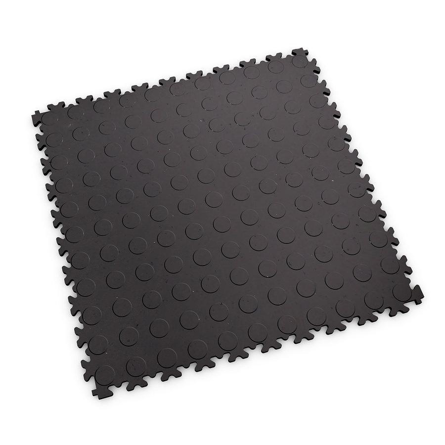 Šedá plastová vinylová zátěžová dlaždice Eco 2040 (penízky), Fortelock - délka 51 cm, šířka 51 cm a výška 0,7 cm