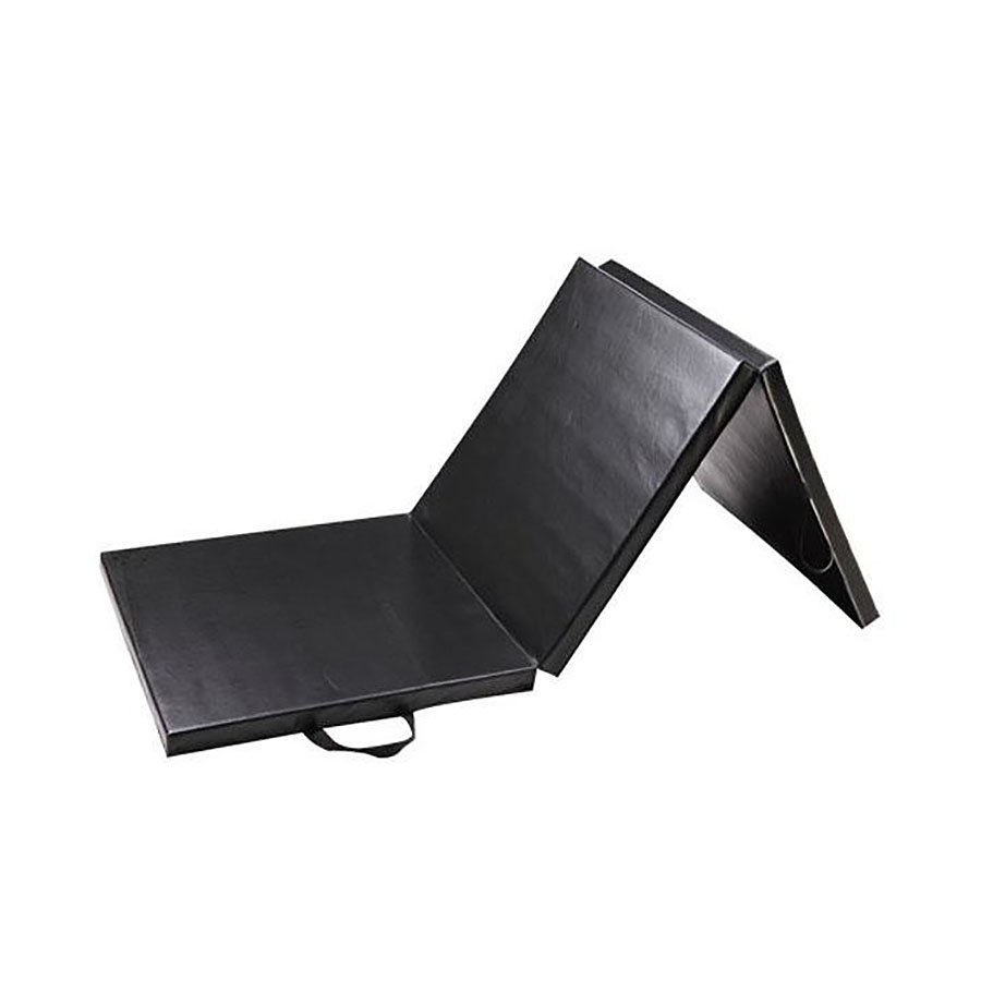 Černá skládací žíněnka - délka 183 cm, šířka 60 cm a výška 4 cm