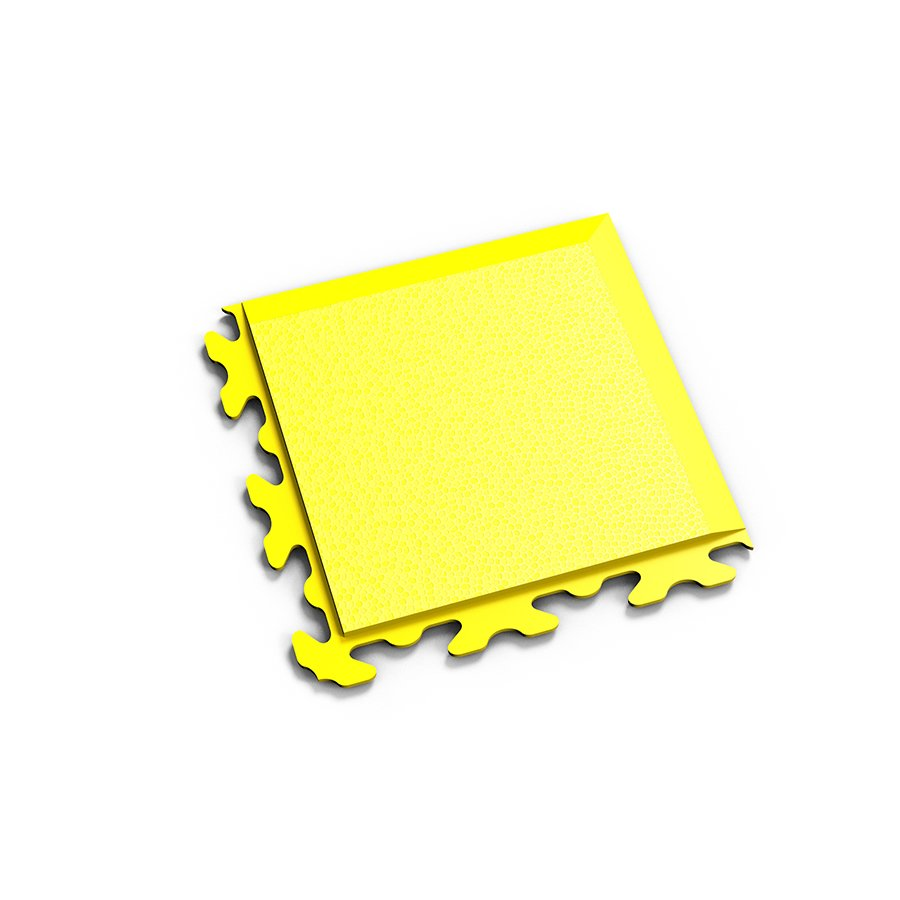 "Žlutý vinylový plastový rohový nájezd ""typ B"" Invisible 2037 (hadí kůže), Fortelock - délka 14,5 cm, šířka 14,5 cm a výška 0,67 cm"