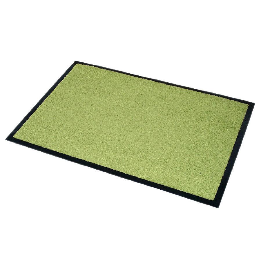 Zelená textilní čistící vnitřní vstupní rohož Twister - délka 90 cm, šířka 60 cm a výška 0,7 cm
