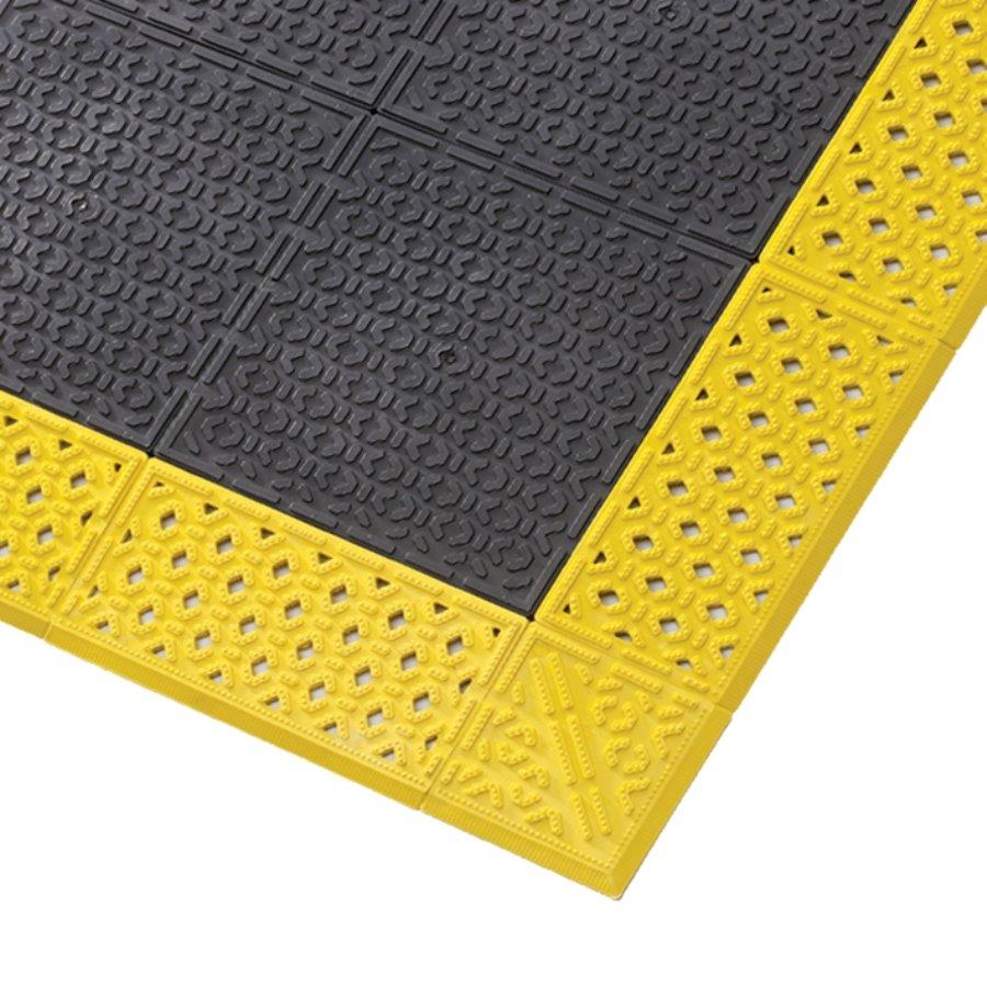 Černá plastová rohož Cushion Lok HD Solid - 76 x 152 x 2,2 cm (81716185) FLOMAT