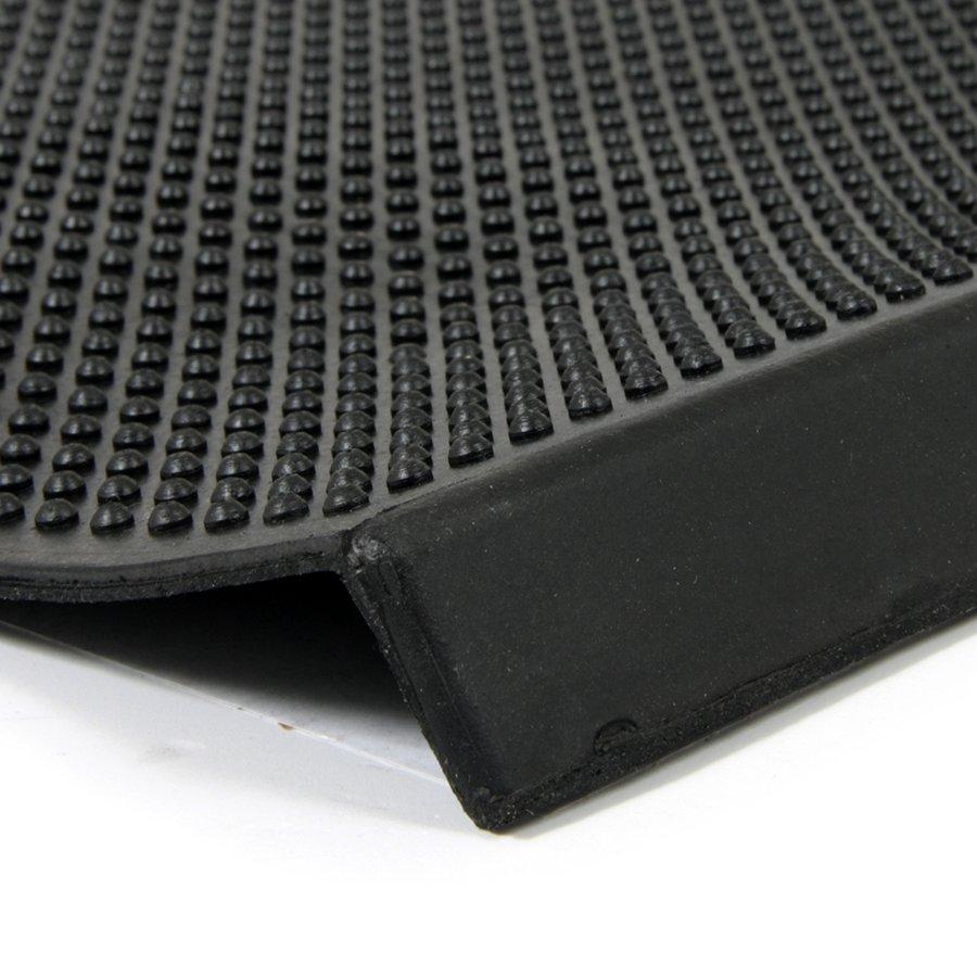 Gumová schodová rohož Rubber Brush, FLOMAT - délka 75 cm, šířka 25 cm a výška 0,5 cm