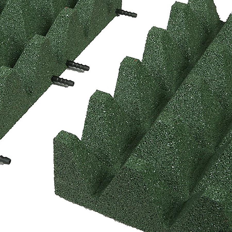 Zelená gumová krajová deska (V100/R75) - délka 50 cm, šířka 25 cm a výška 10 cm
